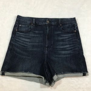 NEW AE jean shorts curvy hi rise shortie blue 18